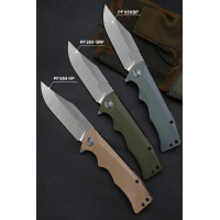 PETRIFIED FISH PF959 FOLDING FLIPPER KNIFE | HEAVY DUTY | BALL BEARINGS | G10 | D2